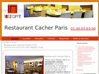 Restaurant cacher animations Paris